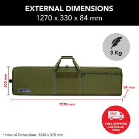 "50"" Double Rifle Bag - Olive Drab"