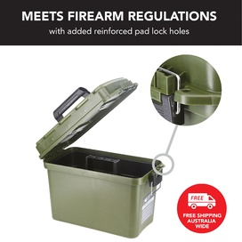 Large Ammunition Case Waterproof Ammo Box / Dry Box in Olive Drab