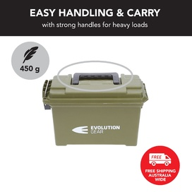 Small Ammunition Box Weatherproof Ammo Case / Dry Box - Olive Drab