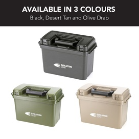 4 x Large Ammunition Case Weatherproof Ammo Box / Dry Box in Olive Drab