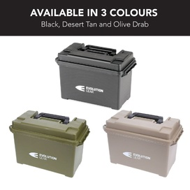 Medium Ammunition Case Weatherproof Ammo Box / Dry Box - Olive Drab