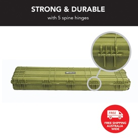 Olive Drab Rifle Hard Gun Case + Shooting Range Mat Bundle (No Foam)
