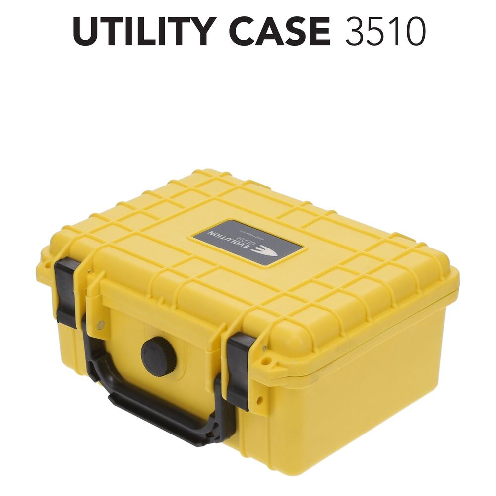 Hi Vis Yellow 3510 HD Series Utility Hard Case for Camera, Ammunition and Sensitive Equipment