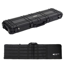 Black Rifle Hard Gun Case + Shooting Range Mat Bundle (No Foam)