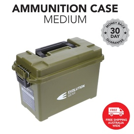 Medium Ammunition Case Waterproof Ammo Box / Dry Box - Olive Drab
