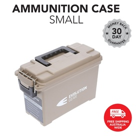 Small Ammunition Box Weatherproof Ammo Case / Dry Box - Desert Tan