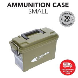 Small Ammunition Box Waterproof Ammo Case / Dry Box - Olive Drab