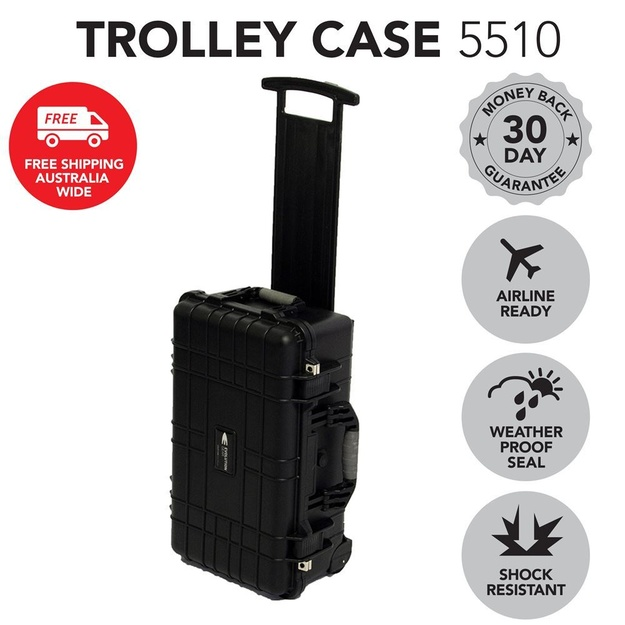 HD Series Trolley Camera & Drone Hard Case - Black